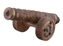 wholesale decorative canon in mango wood u2013 12 u201d hand carved