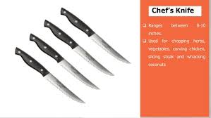 types of knives used in kitchen types of knives