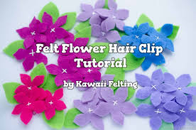 felt hair accessories kawaii diy felt flowers hair clip diy hair accessories