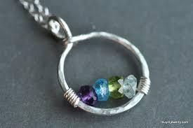 Custom Birthstone Necklaces Circle Of Love Custom Mother U0027s Family Birthstone Necklace 4