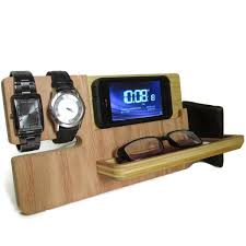 universal gifts universal smart eye and watch dock valet carpentry alarm clocks