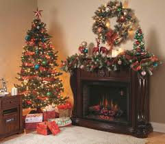 Christmas Decorations For Fireplace Mantel Fake Fireplace Christmas Decorating Ideas Wpyninfo