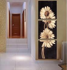 3 panel free shipping sell modern wall painting flower home