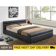 durham faux leather black double bed cheapest durham 4ft6 bed