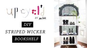 upcycl d from wicker to glamour diy bookshelf tutorial home upcycl d from wicker to glamour diy bookshelf tutorial home decor mr kate youtube