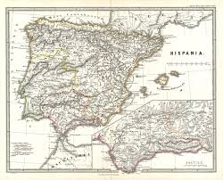 Portugal Spain Map by 1865 Spruner Map Of Spain And Portugal Old Maps Pinterest