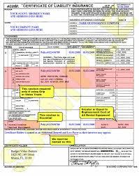 sample insurance certificate budget video rentals