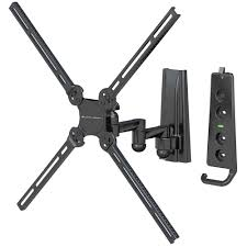 levelmount lm37dj full motion tv wall mount for 10 50 inch tvs