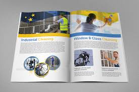 cleaning services brochure template 16 pages by owpictures