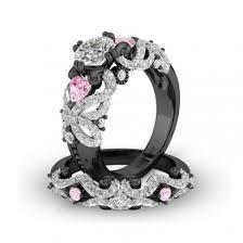 black wedding rings with pink diamonds vancaro black ring black engagement ring black wedding ring