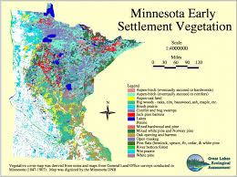 Minnesota vegetaion images Minnesota land use and cover historic gif