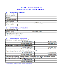 Workforce Planning Template Excel Free Affirmative Plan Template 6 Free Word Excel Pdf Format