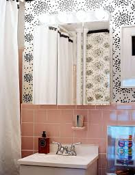 Wallpaper For Bathrooms Ideas Colors 73 Best What To Do With A 50 U0027s Pink Bathroom Images On Pinterest