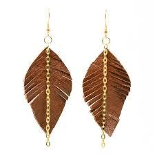 leather leaf bracelet images Leather leaf earrings small ekocreashunz jpg