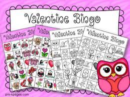 valentines bingo printable bingo for preschool