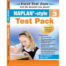 booktopia naplan style test pack yr 3 excel test zone by alan
