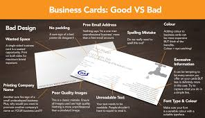 Good Business Card Font Infographic Good Business Card Design Vs Bad Xpand Marketing