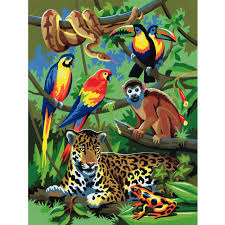 jungle scene junior paint by numbers royal u0026 langnickel from
