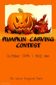 pumpkin carving contest template postermywall