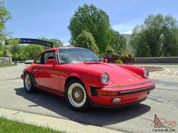 porsche whale tail red porsche 911 g50 bbs showroom condition 1984 coupe