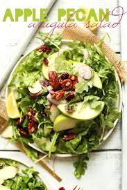 salad for thanksgiving best recipes apple pecan arugula salad minimalist baker recipes