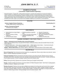 Chemical Engineering Internship Resume Samples Sample Resume Engineering Student Engineer Resume Sample 2