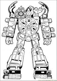 robot power ranger coloring boys power rangers birthday