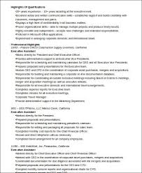 Ceo Assistant Resume Cv Examples For Executive Assistant