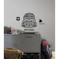 roommates jake and the neverland captain hook giant peel and stick 19 in multi color star wars typographic darth vadar peel and