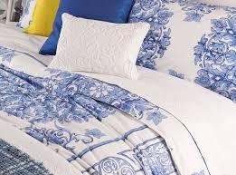 Porcelain Blue Duvet Cover Beautiful Blue Floral Toile Porcelain Print French Country