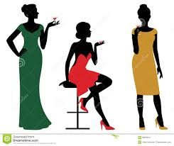 wine glass silhouette silhouettes of women dressed in evening dress holding wine glass