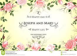 Wedding Invitations With Menu Cards Postcard With Delicate Flowers Roses Wedding Invitation Thank
