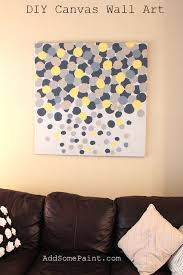 diy room wall decor with frame 64 green way parc living room wall decor with diy yellow grey abstract painted painting canvas and bron leather sofa