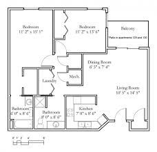 Manhattan 2 Bedroom Apartments by Apartment Sample Floor Plans Meadowlark Continuing Care