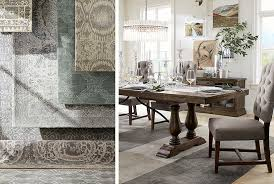 how to choose a rug how to choose the perfect rug for your dining room pottery barn