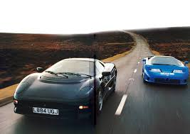 slammed ferrari f40 1994 group road test bugatti eb 110 vs ferrari f40 and jaguar