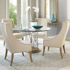Luxury Glass Dining Table Set  Chairs Extending Round And - Kitchen glass table