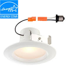 warm led recessed lights envirolite standard retrofit 4 in white recessed trim warm led