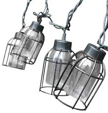 Industrial Outdoor Lighting by Vintage Style Cage String Lights Set Of 10 Industrial Outdoor