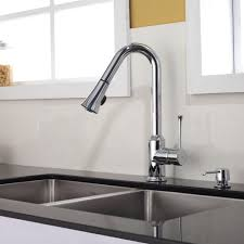 white modern kitchen sink faucets single hole handle pull out