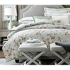 French Bed Linens Duvet Covers Amazon Com French Country Garden Toile Floral Printed Duvet Quilt