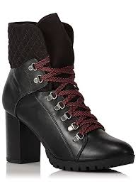 womens boots asda lace up heeled boots george