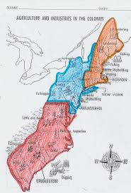 13 Colonies Map Blank by Social Studies 7 Mrs Curley