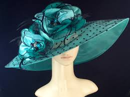 kentucky derby hat turquoise and black fascinator derby hat dress