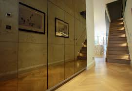 Mirrored Wall Panels Parsons Green Terraced House London Smoked Mirror Panelled Wall