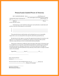 Limited Power Of Attorney Form Real Estate by 5 Limited Power Of Attorney Form Pa Scholarship Letter