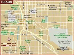 map usa lonely planet map of tucson