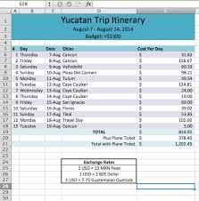 travel itinerary template wanderlust tour