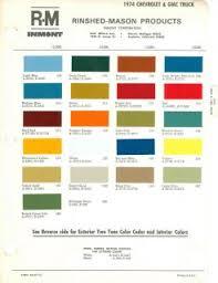1965 chevrolet dodge truck paint color chart ppg 65