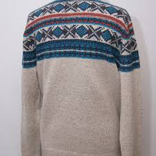 fish sweater fish kenmore 1 4 zip fair isle knitted jumper twine clothing